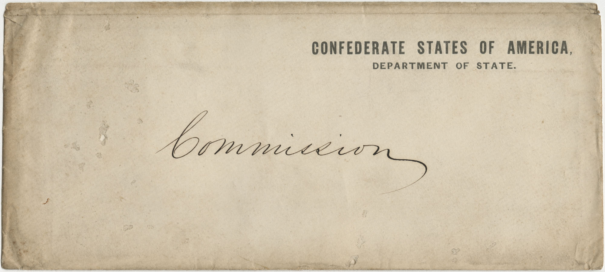 Envelope addressed Commission