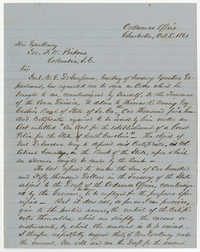 Col. Edward Manigault Letter, October 5, 1861