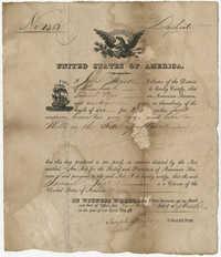 Samuel Pope, Seamen's Protection Certificate, 1820
