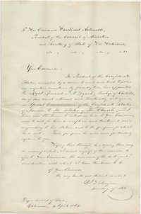 Letter from J. P. Benjamin to Cardinal Antonelli