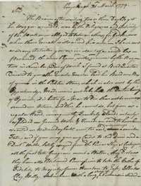 Letter from Colonel Owen Roberts to John F. Grimke, March 21, 1779