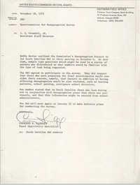 Memorandum from Courtney Siceloff to I. T. Creswell, Jr., November 18, 1975