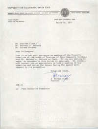 Letter from J. Herman Blake to Septima Clark and others, March 30, 1977