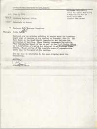 Memorandum from Courtney Siceloff to South Carolina Advisory Committee, June 3, 1976