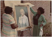 Painted Portrait of Septima P. Clark, Septima P. Clark Day Care Center Ceremony, May 19, 1978