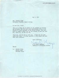 Letter from N. Q. King to Septima P. Clark, May 1, 1973