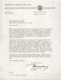 Letter from J. Herman Blake to Septima P. Clark, October 13, 1976