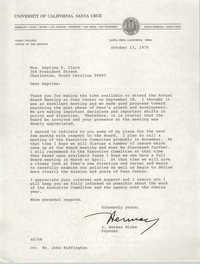 Letter from J. Herman Blake to Septima P. Clark, October 13, 1976