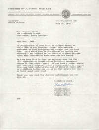 Letter from Robert Bosler to Septima P. Clark, July 20, 1972