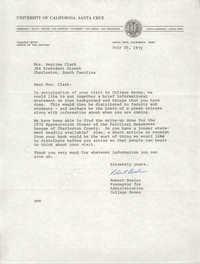 Letter from Robert Bosler to Septima P. Clark, July 20, 1972