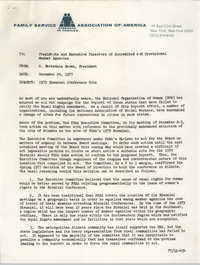 Memorandum from H. Barksdale Brown to Presidents and Executive Directors of Accredited and Provisional Member Agencies, December 29, 1977