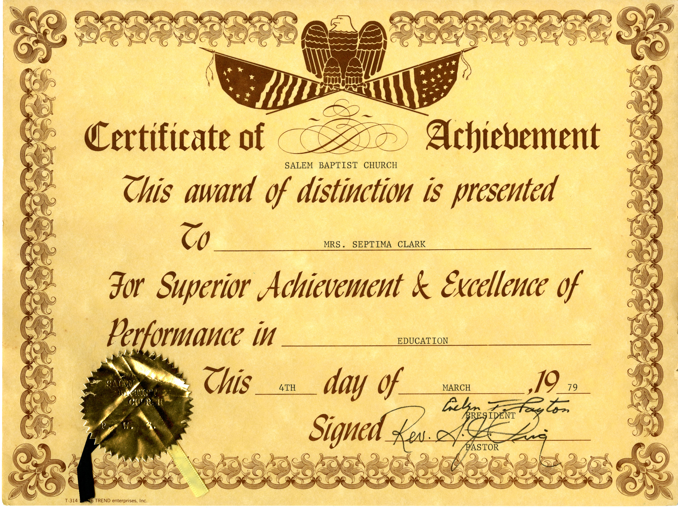 Certificate, March 4, 1979