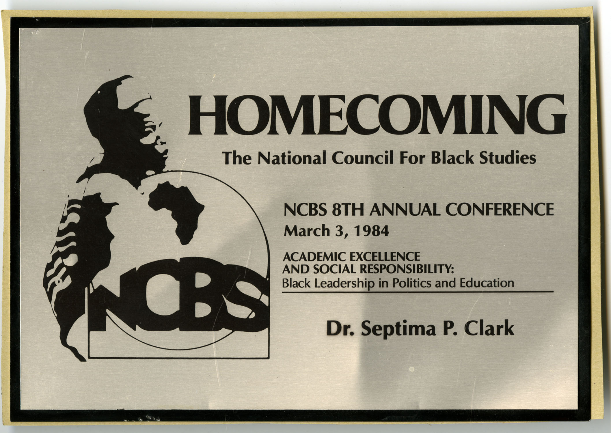Plaque, March 3, 1984