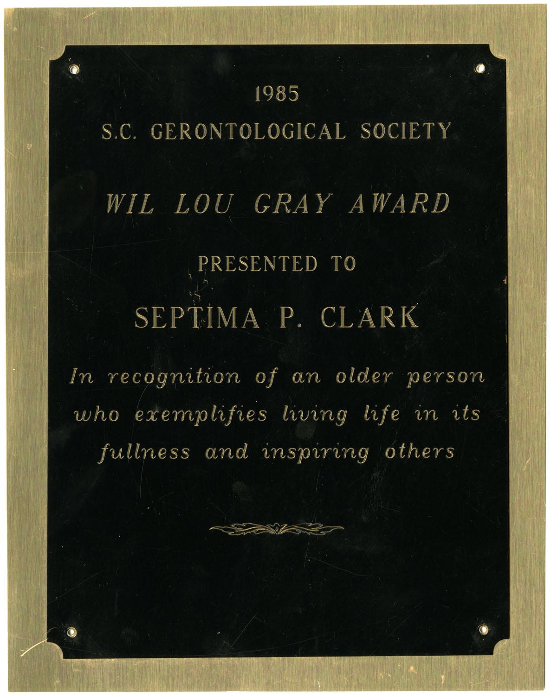 Plaque, 1985