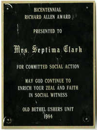 Plaque, 1984