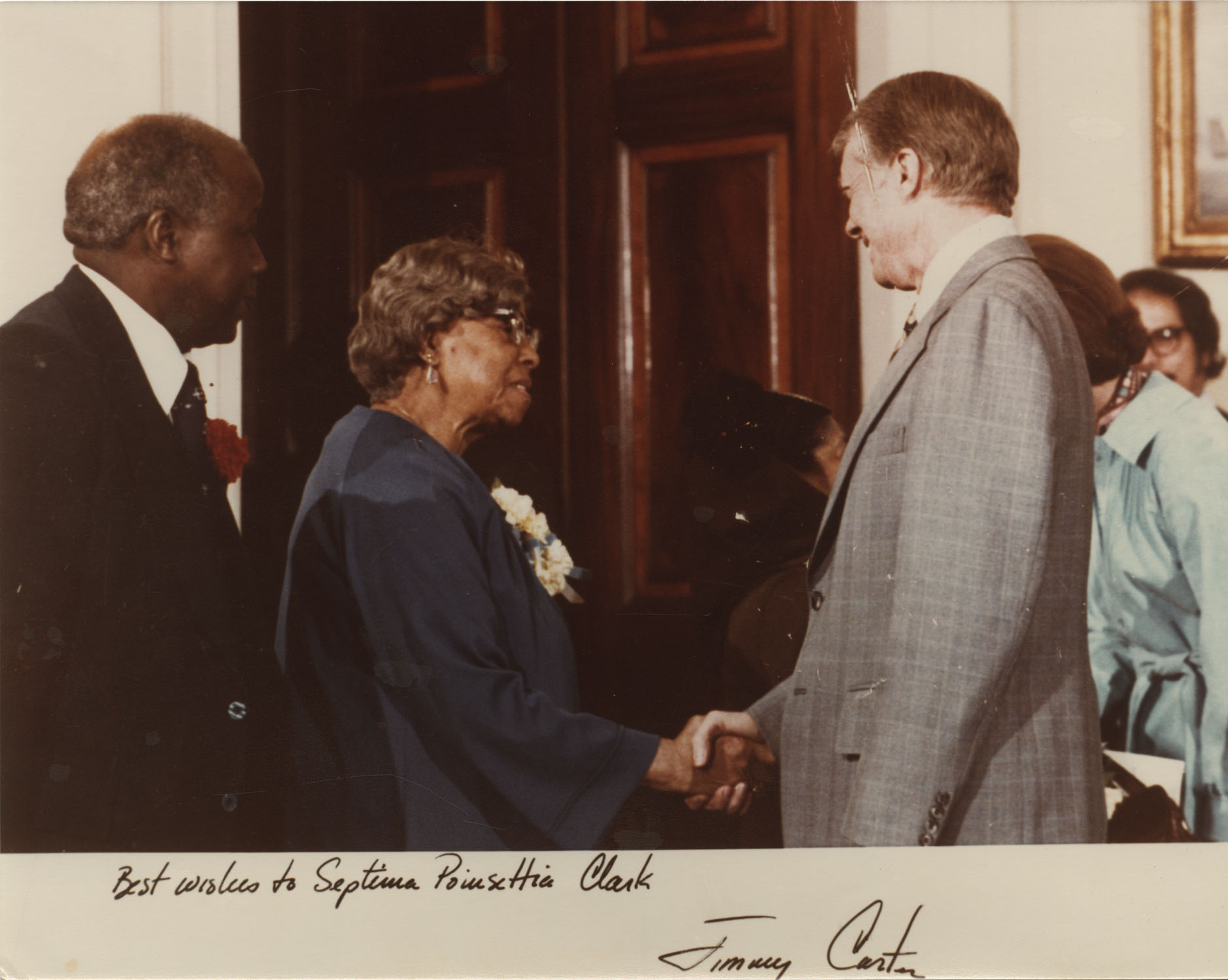 Letter from Jimmy Carter to Septima P. Clark; Photograph of Septima P. Clark and Jimmy Clark, May 24, 1979