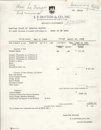 E. P. Dutton and Co., Inc. Royalty Statement for