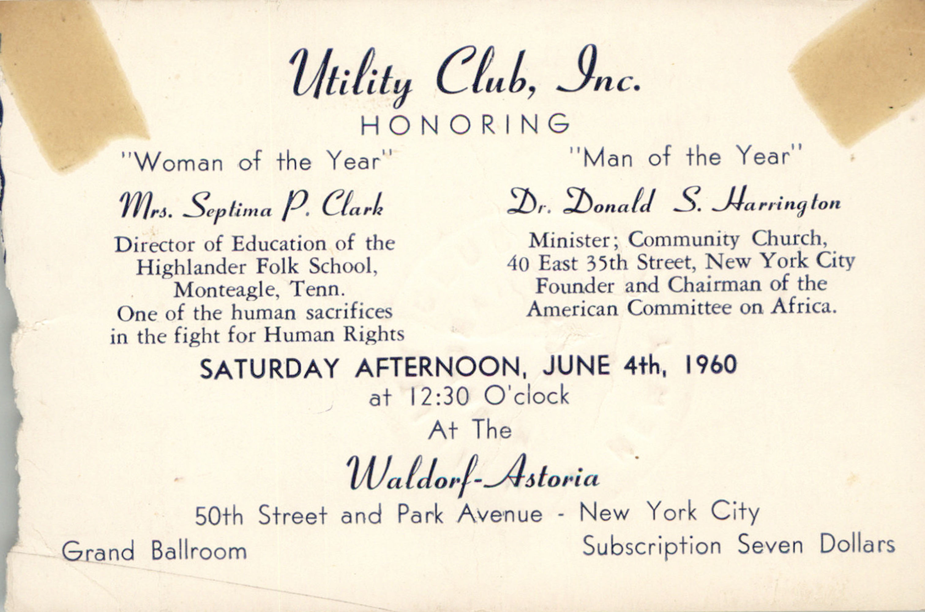 Invitation, June 4, 1960