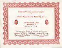 Certificate, February 2, 1986