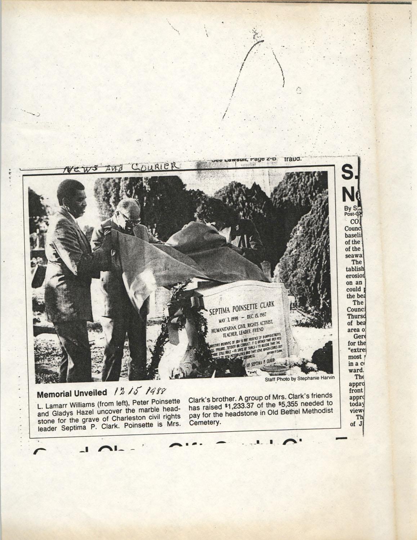 Newspaper Article, December 15, 1988