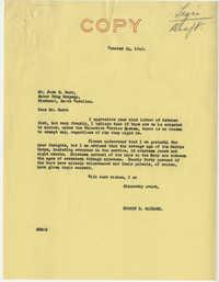 Teenage Draft: Correspondence between John H. Barr (Suber Drug Company, Piedmont, S.C.) to Senator Burnet R. Maybank, October 21, 1942