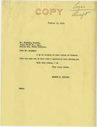 Teenage Draft: A letter from Sterling Graydon (Angus Brick Co., Inc., Ninety Brick, S.C.) to Senator Burnet R. Maybank and Senator Ellison D. Smith, October 23, 1942