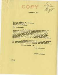 Teenage Draft: A letter from M. E. Brockman (Public School Superintendent, Chester, S.C.) to Senator Burnet R. Maybank, October 24, 1942