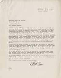Teenage Draft: A Letter from Stanley W. Crews (Greenville, S.C.) to Senator Burnet R. Maybank, October 19, 1942