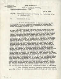 Santee-Cooper: Letter from Edward Markham (Major General, Chief of Engineers) to the Secretary of War, November 17, 1936