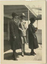 Three Women on Deck