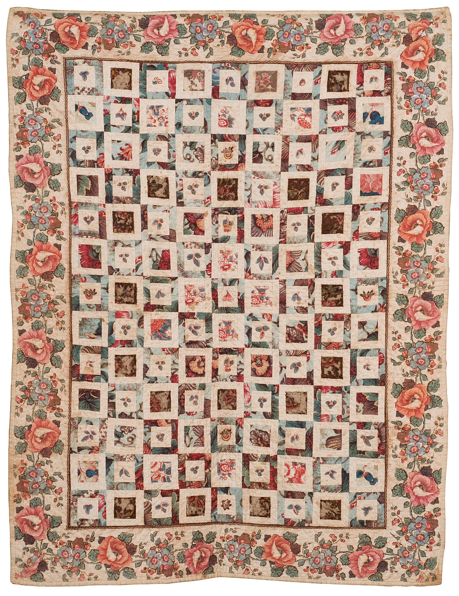 Pieced Chintz Applique Quilt