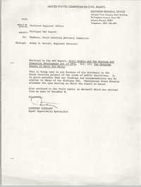 Memorandum from Courtney Siceloff to South Carolina Advisory Committee, undated