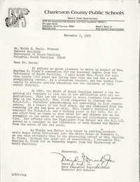 Letter from David J. Mack, Jr. to Keith E. Davis, November 3, 1976