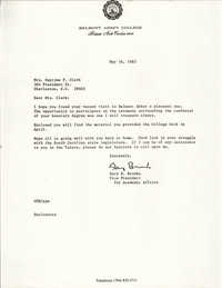 Letter from Gary H. Brooks to Septima P. Clark, May 16, 1983