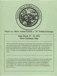 Convention Program, National Black Political Convention, March 17-21, 1976