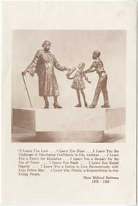 Mary McLeod Bethune Memorial Card