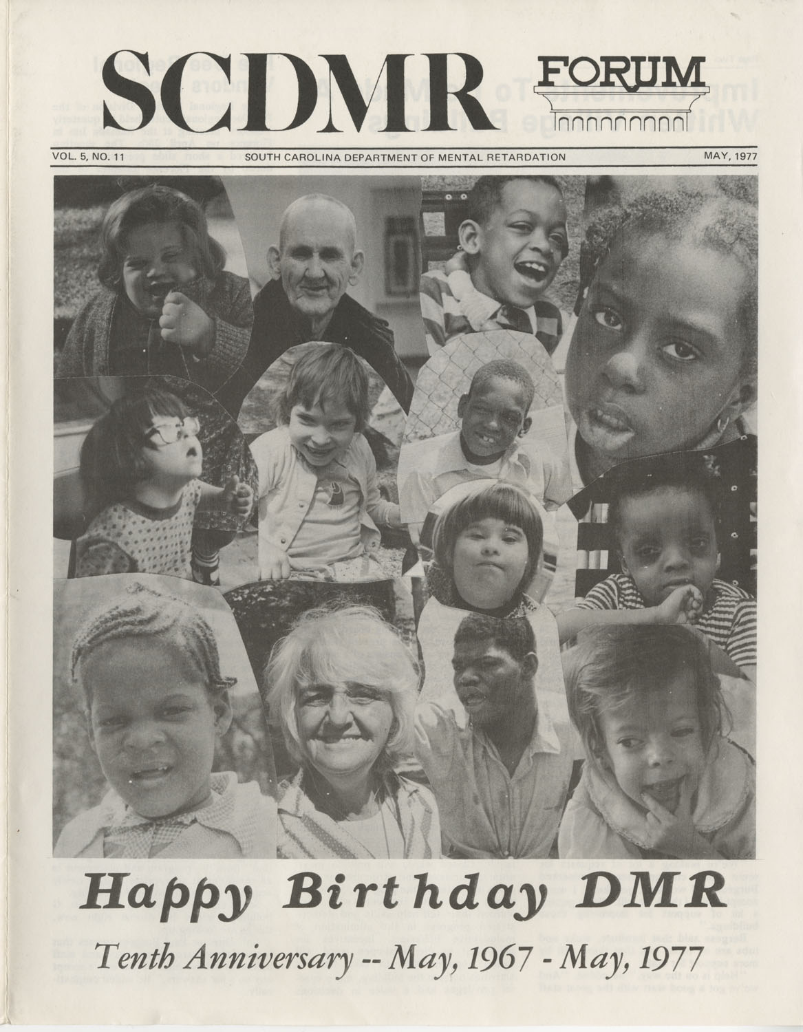 SCDMR Forum, South Carolina Department of Mental Retardation, May 1977