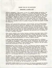 Newsletter, Trident Forum for the Handicapped, August 1978