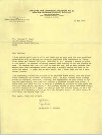 Letter from Jaquelyne J. Jackson to Septima P. Clark, May 12, 1975 (2)