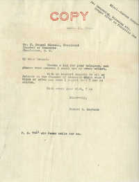 Santee-Cooper: Correspondence between J. Dougal Bissell and Senator Burnet R. Maybank, April 1944