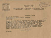 Santee-Cooper: Letter from Senator Burnet R. Maybank to Richard M. Jefferies (General Counsel of the South Carolina Public Service Authority), December 1, 1944
