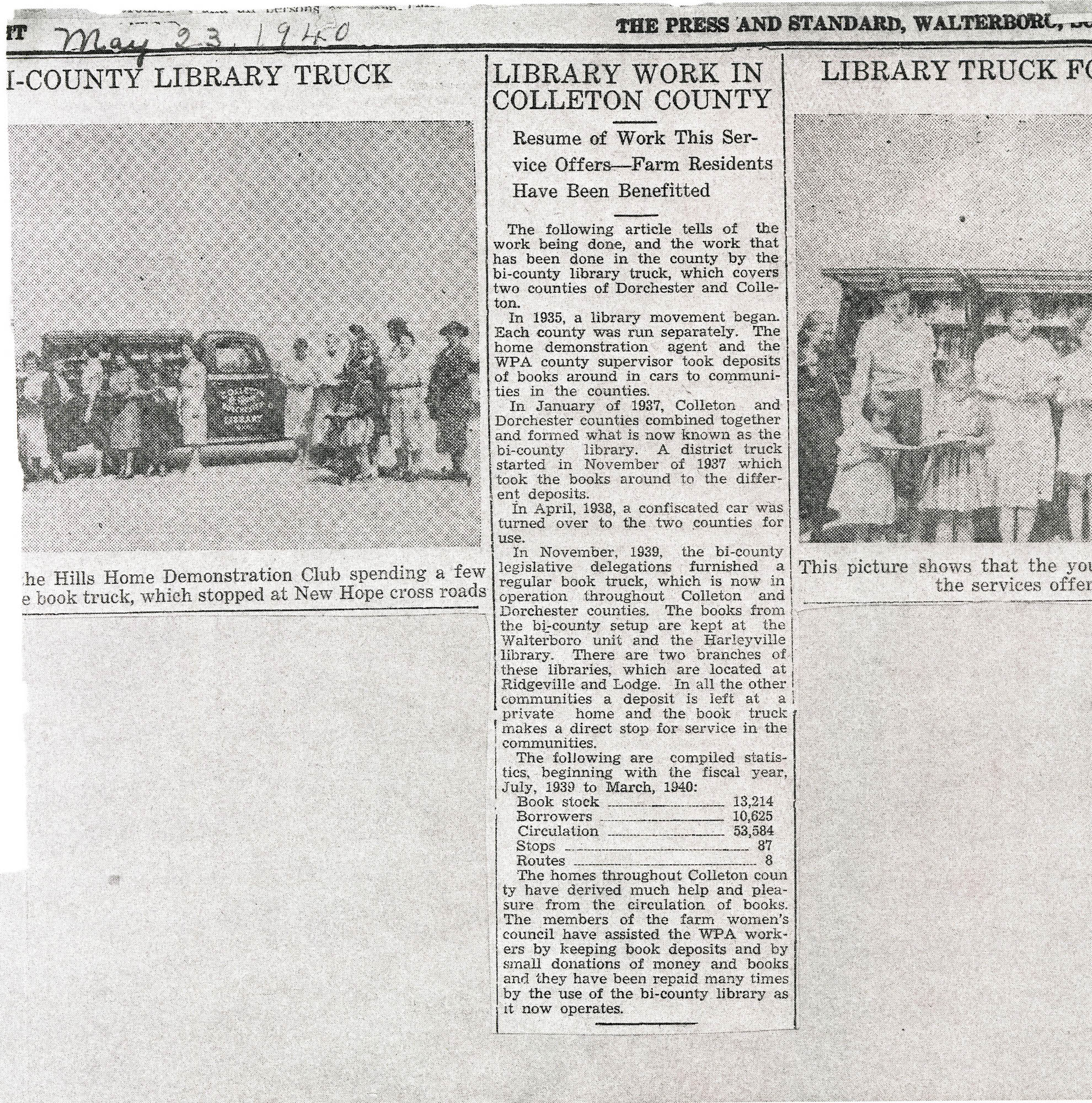 Press and Standard Articles About the Bi-County Library Bookmobile.