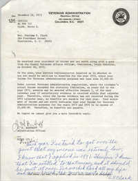 Letter from J. H. Bartruff to Septima P. Clark, December 18, 1973