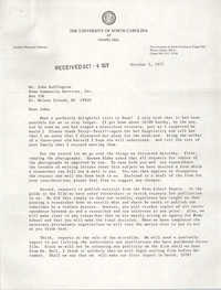 Letter from Ellen Neal to John Buffington, October 3, 1977