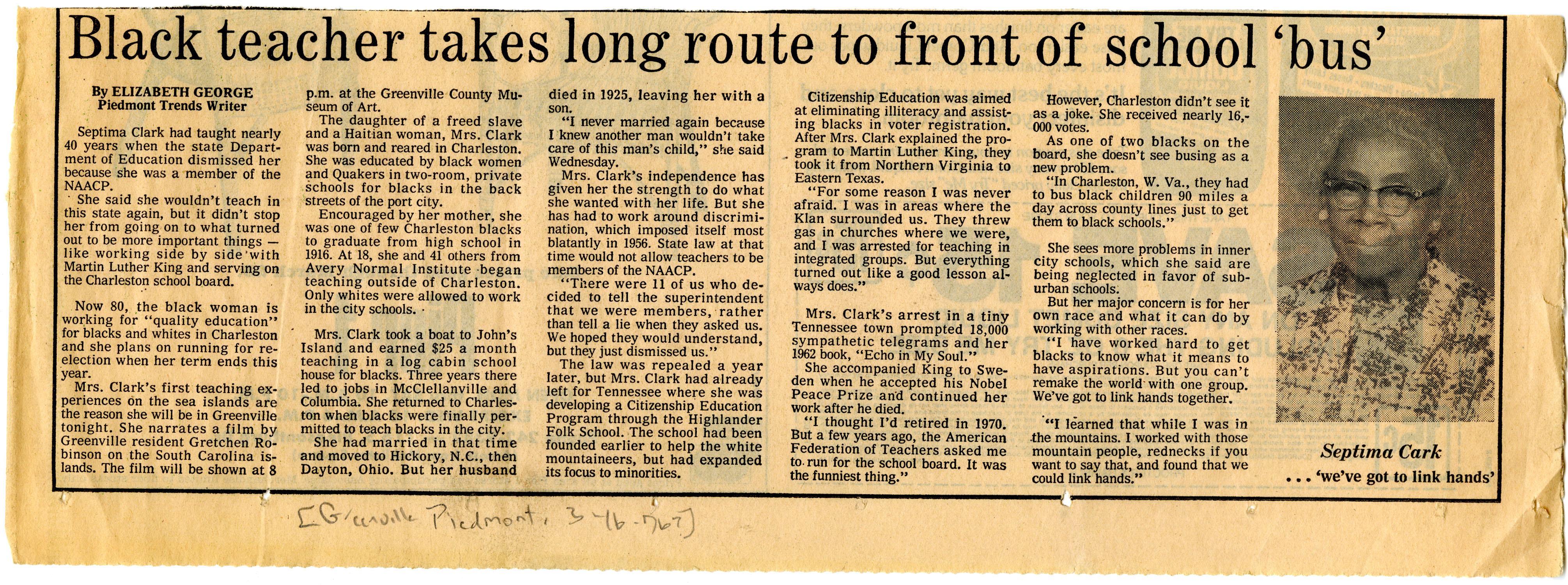 Newspaper Article, March 16, 1976