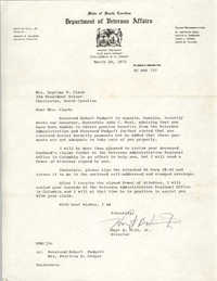 Letter from Hoyt B. Hill, Jr. to Septima P. Clark, March 29, 1971
