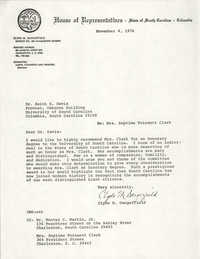Letter from Clyde M. Dangerfield to Keith E. Davis, November 4, 1976