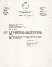 Letter from Gordon B. Stine to Keith E. Davis, November 3, 1976