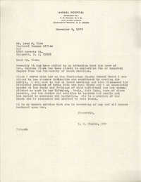 Letter from T. M. Rhodes to Leon M. Elam, November 3, 1976
