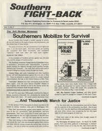 Southern Fight-Back, Southern Organizing Committee for Economic and Social Justice, May 1977